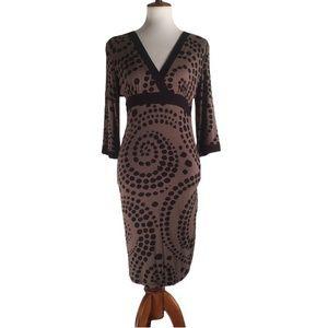 ❤️3/$25 Athleta Brown with Black Swirl Dress